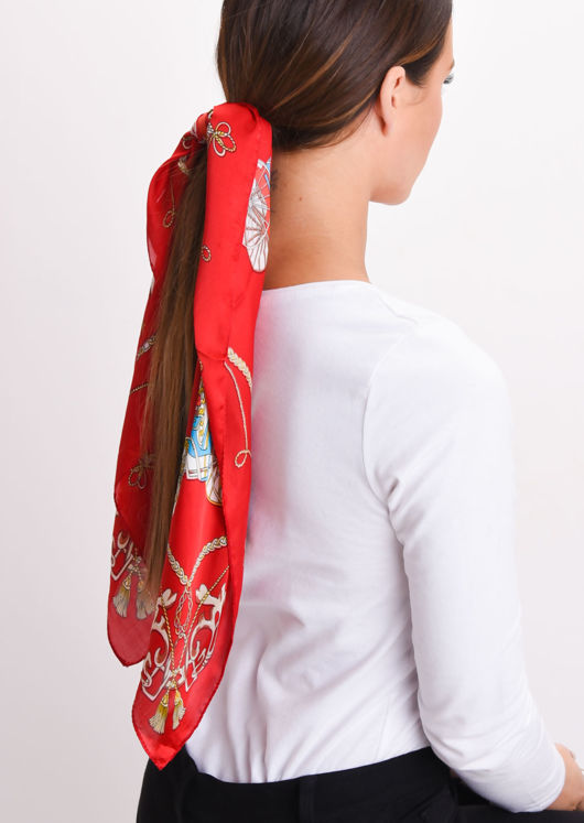 head scarf satin